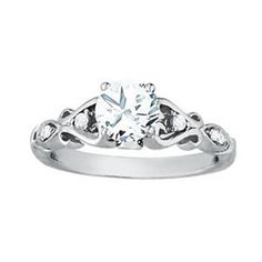 FILIGRIE SHANK REMOUNT FOR DIAMOND ENGAGEMENT RING FROM OVERNIGHT MOUNTINGS