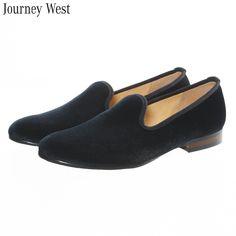 06916da4d791d New Fashion Plain Velvet Loafers Men Dress Shoes Slip On Smoking Slippers  Men s Flats Wedding and