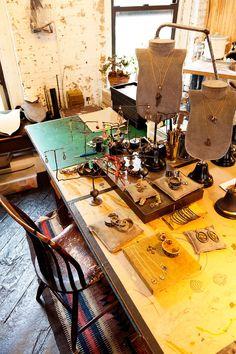 Philip Crangi - Jewelry Designer  At his Home and Studio in New York City - June 27, 2012 via The Selby