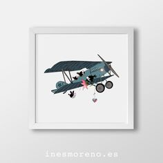 Animalitos voladores. Láminas de edición limitada, desde 17€ / Limited edition prints from 17€. #laminas #edicionlimitada #arte #ilustracion #decoracion #limitededition #prints #illustration #art #kidsroom #deco #childish