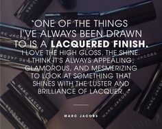 Marc Jacobs on his inspiration for Marc Jacobs Beauty Lust For Lacquer Lip Vinyl. Read more on the Glossy! #Sephora