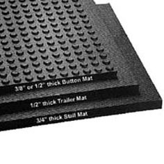 Horse Floor Wash bay-Interlocking, Button Top Mats provide traction in wet areas. Sold as a kit with component pieces ready to assemble for your specified area size.  www.greatmats.com #horsestallmats #animalfloor