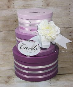 wedding boxes for cards in reception | Hand Painted Ombre wedding card boxes by ... | Wedding Reception