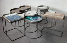 Design side tables and trays
