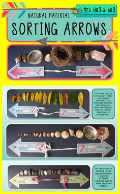This pack contains a variety of sorting/continuum arrows that the children can use to organise and arrange the natural materials on your classroom nature table.  Bring some active learning to your nature table by incorporating the skills of comparing, ranking and ordering!
