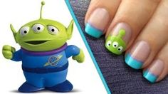 Toy Story Alien Nails - A CutePolish Disney Exclusive, via YouTube.