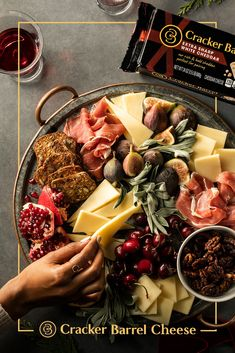 This luscious spread is easy to make, and easier to devour. Slice Cracker Barrel Extra Sharp White Cheddar into triangles and serve with prosciutto, fresh sage, and crackers (we love fig-and-olive flavor or similar, if available). Consider pairing with candied pecans, pomegranate, blood orange, cherries, and figs (or fig jam).