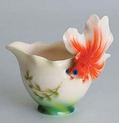 Franz Porcelain Goldfish Creamer
