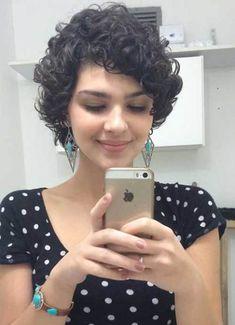 Cute Haircuts for Short Curly Hair 2018 - Short Hair Styles Cute Haircuts, Curly Hair Cuts, Cute Hairstyles For Short Hair, Hairstyles Haircuts, Short Hair Cuts, Curly Hair Styles, Curly Short, Curly Bob, Haircut Short