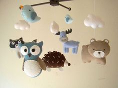 Baby crib mobile forest mobile animal mobile felt by Feltnjoy Moose Deer, Felt Mobile, Whale Mobile, Baby Crib Mobile, Baby Cribs, Baby Shower Gifts, Baby Gifts, Baby Lullabies, Baby Koala