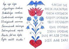 A tulipán és a láda történe - Tulipános ládika Hungarian Embroidery, My Heritage, Budapest, Henna, Folk, The Past, Bullet Journal, Symbols, Teaching