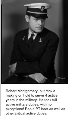 Robert Montgomery actor served his country in the military