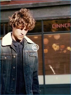 Theo Wenner photographs Miles McMillan for AG Jeans' fall-winter 2016 advertising campaign.