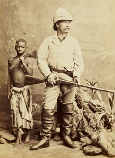 """10 November 1871 – Henry Morton Stanley locates missing explorer and missionary, Dr. David Livingstone in Ujiji, near Lake Tanganyika, famously greeting him with the words, """"Dr. Livingstone, I presume?""""."""