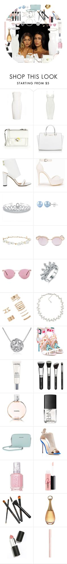 """""""Gigi and Bella"""" by amalie-solis ❤ liked on Polyvore featuring Versace, Posh Girl, Salvatore Ferragamo, Michael Kors, IRO, Nly Shoes, Bling Jewelry, Robert Rose, Le Specs and Oliver Peoples"""