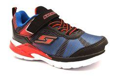 SKECHERS 97761L NVLM BLU NERO VERDE Bambino Sneakers Scarpe