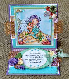 OOAK Magnolia Pearl Tilda Summer Card by MyAdoredAdorables on Etsy, £12.00