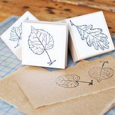 Rubber Leaf Stamps