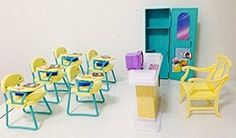 Amazon.com: Barbie Size Dollhouse Furniture - Classroom Play Set: Toys & Games