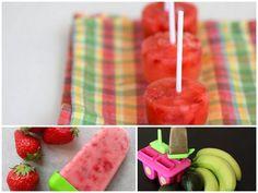 3 simple frozen treats your kids will love. Fresh fruit, no sugar added. sweet treat, kid food, frozen treat, refresh treat, frozen goodi, strawberri, kids, frozen dessert, simpl frozen