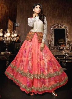 Shilpa Shetty Pink Anarkali Salwar Suit