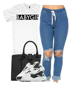 """""""Enemy"""" by queen-tiller ❤ liked on Polyvore featuring Yves Saint Laurent and NIKE"""