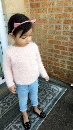 Children's place top   ON Jeans   Gap cat flats   🐱