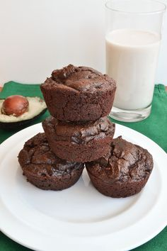 Healthy Chocolate Avocado Muffins - She Bakes Here-YUM!!! :)  kid approved.