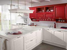 Cocinas de estilo clásico con mucho color y con todas las comodidades modernas