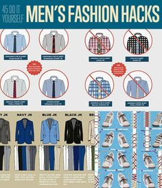 45 DIY Men's Fashion Hacks| Fashion Tips for Men | Amazing fashion tips to make your life easier. | DIY Projects for men from http://DIYReady.com #DIYMenProjects #DIYReady