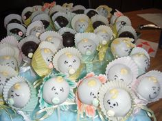 Baby cake pops by Gypsysweetart on Etsy, $26.00