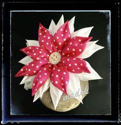 Haargummis - Haargummi Blüte *Kanzashi* - ein Designerstück von Made-by-Dori bei DaWanda