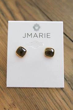 Smoke Square Post Studs — The Impeccable Pig Online Boutique