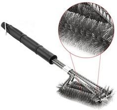 Details About Upgraded BBQ Grill Brush 18 Long 3 Stainless Steel Bristle  Brushes In 1  Best +