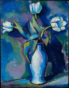 Three White Tulips (1912) by Charles Sheeler. Oil on panel. http://www.mfa.org/collections/object/three-white-tulips-35112