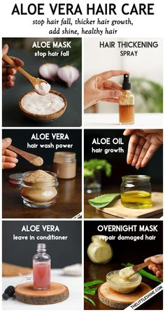 Aloe Vera For Hair, Aloe Vera Hair Growth, Homemade Beauty Products, Hair Care Products, Natural Products, Hair Thickening, Fast Hairstyles, Hair Remedies, Natural Hair Care