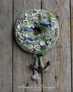 Summer Deco, Seashell Crafts, Sea Shells, Spoon, Wreaths, Pure Products, Beach, Design, Decor