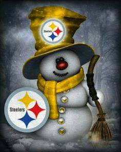 Steelers and snowmen, 2 of my fave things!! {GM}