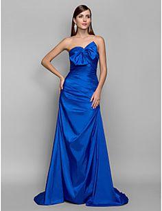 A-line Sweetheart Sweep/Brush Train Taffeta Evening/Prom Dress (682733)