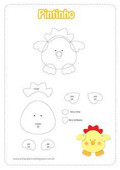 Moldes Fazendinha baby para decorações em feltro e EVA - Dicas pra Mamãe