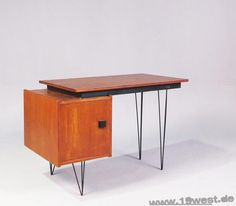 Cees Braakman MCM desk. Love the hairpins.
