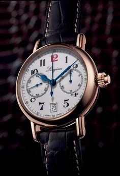 TimeZone : Industry News » Pre-Basel 2014 Longines Column-Wheel Monopusher Chronograph