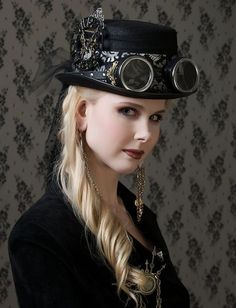 Steampunk its more than an aesthetic style, it's the longing for the past that never was. In Steampunk Girls we display professional pictures, and illustrations of Steampunk, Dieselpunk and other anachronistic 'punks. Mode Steampunk, Steampunk Cosplay, Steampunk Design, Victorian Steampunk, Gothic Steampunk, Steampunk Clothing, Steampunk Fashion, Gothic Fashion, Neo Victorian
