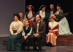 """""""Our Town"""" at Nevada Theatre Costume Ideas, Costumes, Our Town, Bridesmaid Dresses, Wedding Dresses, Nevada, Plays, Theater, Stage"""