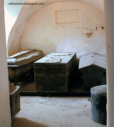 The crypt under the the baroque church in Nesvizh, Belarus. Here lie the bodies of more than 102 Radziwill family.