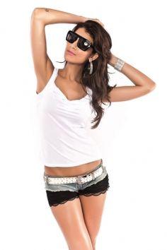 74c22c3856393 White black sexy short mini tank low ut back see through lace sexy clubwear  top