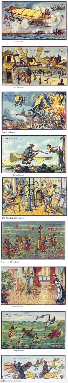 What artists in 1900 thought 2000 would look like