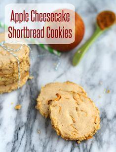 Apple Cheesecake Shortbread Cookies | RachelCooks.com @Rachel Cooks | Rachel Gurk