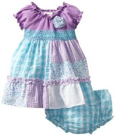 Baby girl clothes#baby spring dresses#Youngland Baby-Girls Newborn Seersucker LOVE THE COLOR COMBO
