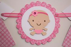 Bebé niña ducha Banner Banner de niña color rosa por OCDKreations